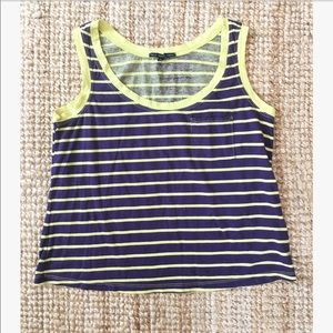 Urban outfitters purple & yellow striped crop top